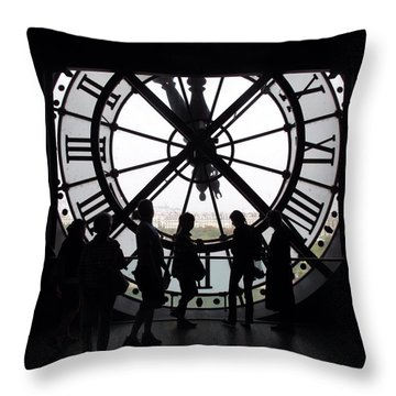 Biding Time Throw Pillow