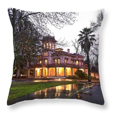 Bidwell Mansion In The Rain  Throw Pillow