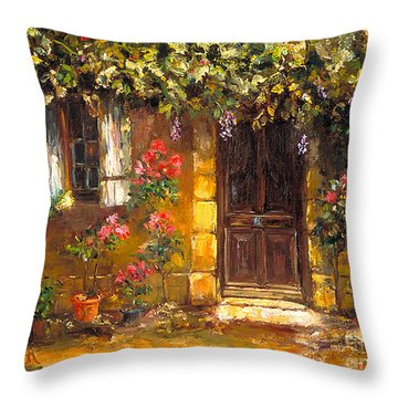 Bienvenue A' Provence Throw Pillow