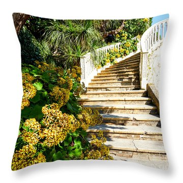 Throw Pillow featuring the photograph Bienvenue by Juergen Klust