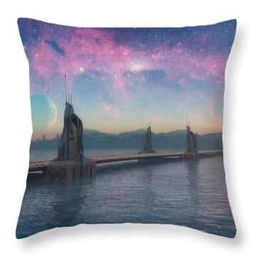 Bifrost Bridge Throw Pillow by Cynthia Decker