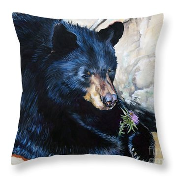 Big B And Little Bee Throw Pillow