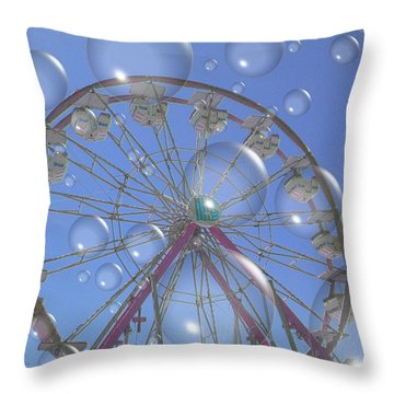 Big B Bubble Ferris Wheel Throw Pillow
