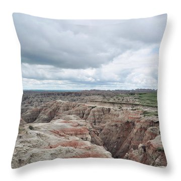 Big Badlands Overlook Throw Pillow