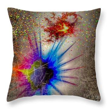 Throw Pillow featuring the digital art Big Bang by Eleni Mac Synodinos