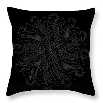 Big Bang Inverse Throw Pillow
