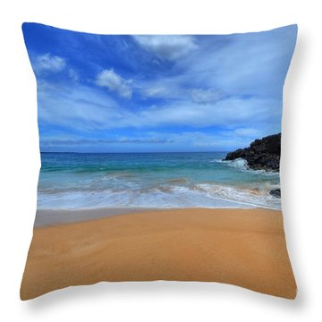 Big Beach Maui Throw Pillow