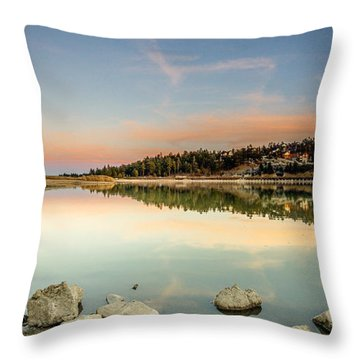 Throw Pillow featuring the photograph Big Bear Lake by Robert  Aycock