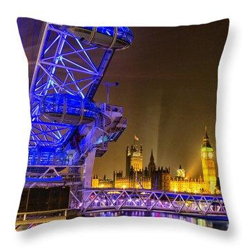 London Eye Throw Pillows