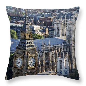 Big Ben And Westminster Throw Pillow