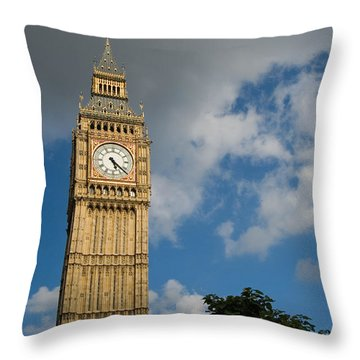 Throw Pillow featuring the photograph Big Ben by Jeremy Voisey