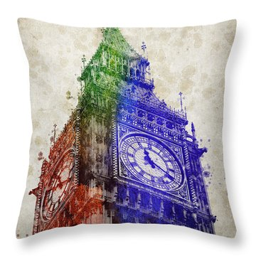 Big Ben London Throw Pillow by Aged Pixel