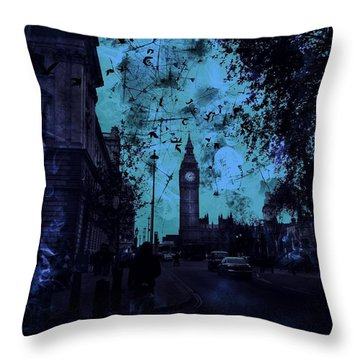 Big Ben Street Throw Pillow