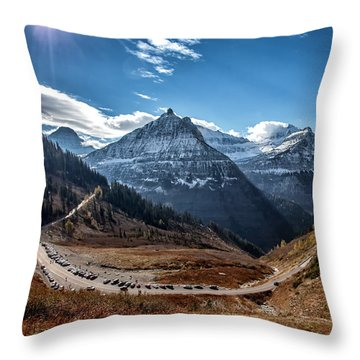Throw Pillow featuring the photograph Big Bend by Aaron Aldrich