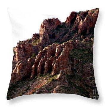 The Mountain's Hand Throw Pillow