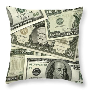 Big Bills Throw Pillow