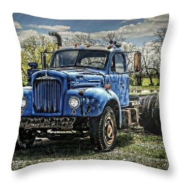 Big Blue Mack Throw Pillow