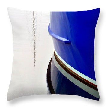 Throw Pillow featuring the photograph Big Blue by Patricia Strand