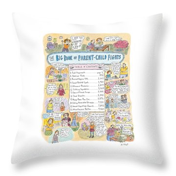 'big Book Of Parent-child Fights' Throw Pillow