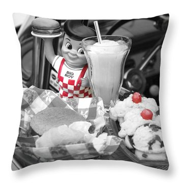 Big Boy In Black And White Throw Pillow by Sonya Lang