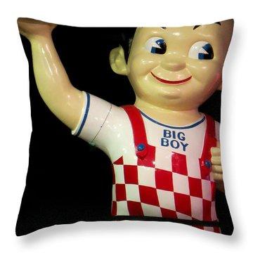 Big Boy Throw Pillow by Tim Townsend