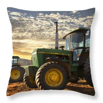 Big Boys' Toys Throw Pillow