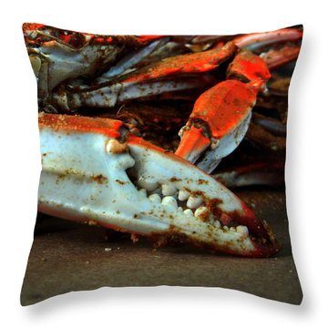 Big Crab Claw Throw Pillow