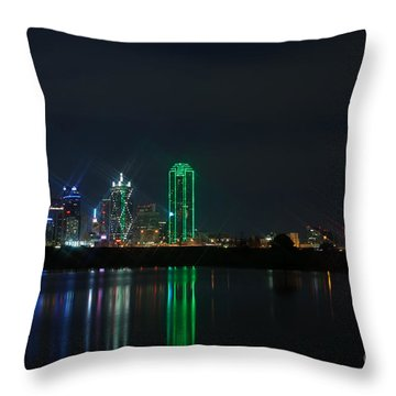 Big D Throw Pillow by Charles Dobbs