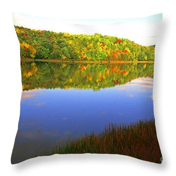 Big Ditch Lake West Virginia Throw Pillow by Thomas R Fletcher