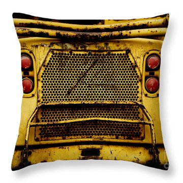 Big Dump Truck Grille Throw Pillow by Amy Cicconi