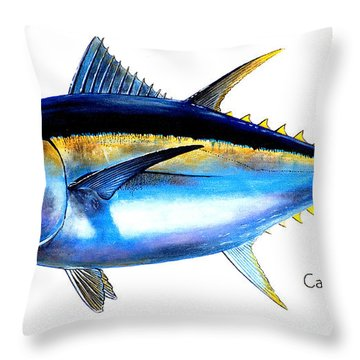 Big Eye Tuna Throw Pillow by Carey Chen