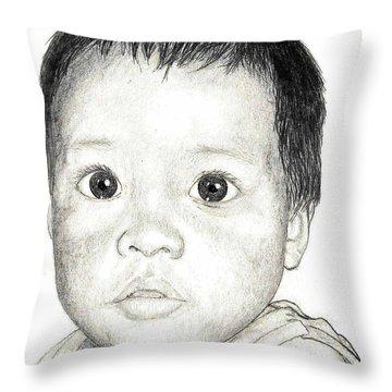 Big Eyes Throw Pillow by Lew Davis