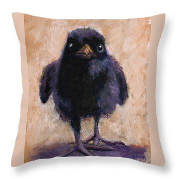 Big Foot Throw Pillow by Billie Colson