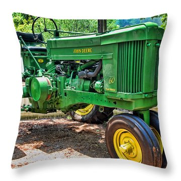 Big Green Throw Pillow by Kenny Francis