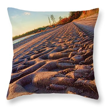 Big Green Tracks Throw Pillow