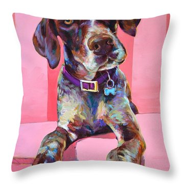 Throw Pillow featuring the painting Big Hank by Robert Phelps