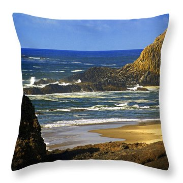 Big Head Pointe Throw Pillow by Marty Koch