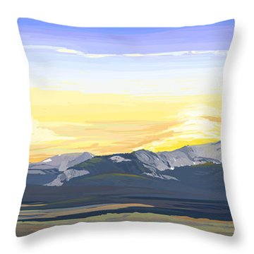 Big Hole Beaverhead Mountains Throw Pillow