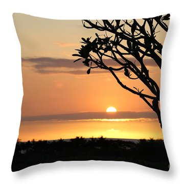 Big Island Sunset All Profits Go To Hospice Of The Calumet Area Throw Pillow