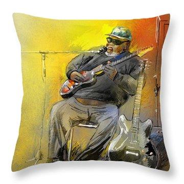 Big Jerry In Memphis Throw Pillow by Miki De Goodaboom