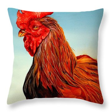 Throw Pillow featuring the painting Big John by Phyllis Beiser
