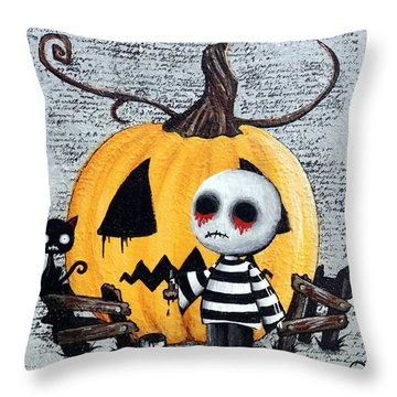 Big Juicy Tears Of Blood And Pain No. 11 The Great Pumpkin Throw Pillow