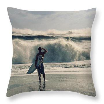 Big Kahuna Throw Pillow by Laura Fasulo
