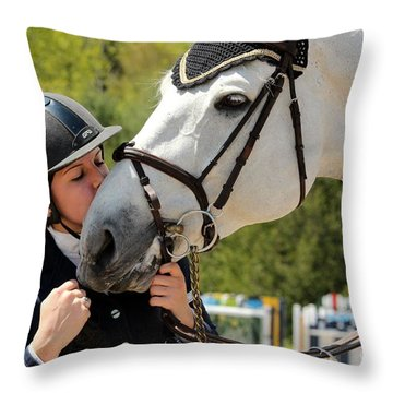 Big Kisses Throw Pillow