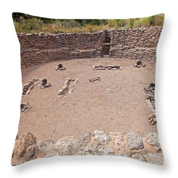 Big Kiva Bandelier National Monument Throw Pillow