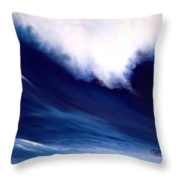 Throw Pillow featuring the digital art Big Kahuna  by Anthony Fishburne