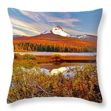 Big Lake And Mt Washington Oregon Throw Pillow