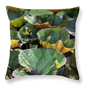 Throw Pillow featuring the photograph Big Leaves by Susanne Baumann