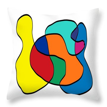 Big Left Hook Throw Pillow by Jeff Gater