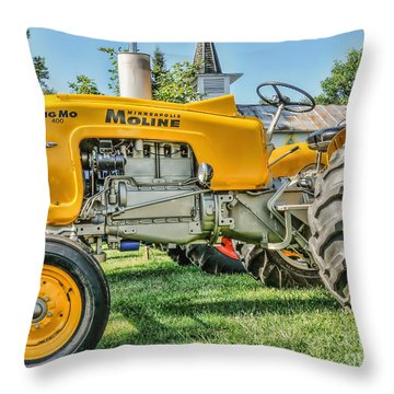 Throw Pillow featuring the photograph Big Mo Minneapolis Moline by Trey Foerster